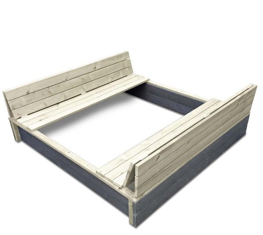 EXIT Aksent Sandkasten / Sandgrube XL inkl. Holzabdeckung