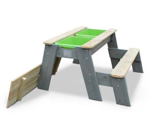EXIT Aksent Sand, Wasser & Picknicktisch inkl. Bank und Wannen