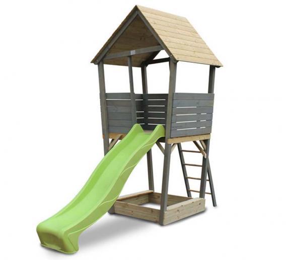 EXIT Kinderspielturm Aksent inkl. Rutsche & Leiter