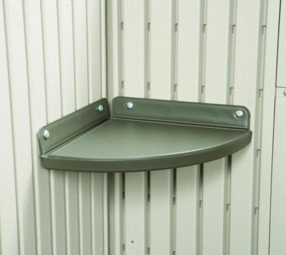 Lifetime Eckregal (2 Stk.) für Gerätehaus aus Kunststoff
