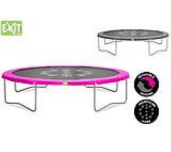 EXIT Trampolin Twist Pink/Grau Ø366 cm
