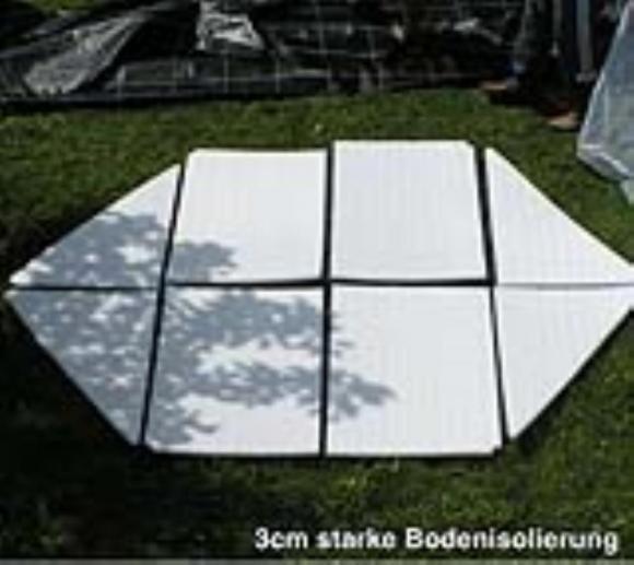 Florino Foliengewächshaus Größe XL, Ø340x280 cm