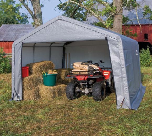 Shelter Logic Foliengerätehaus & Weidezelt 13,7 m², 370x370 cm