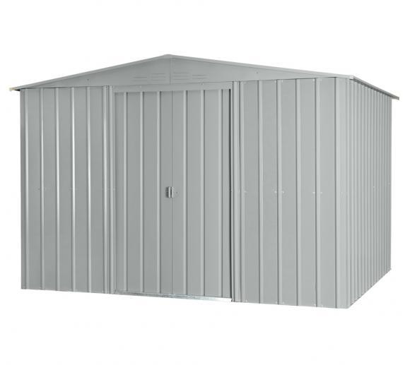 Globel Industries Metallgerätehaus 8x10 silber, 234x299 cm