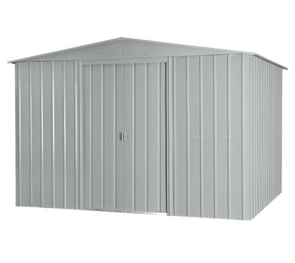 Globel Industries Metallgerätehaus 10x10 silber metallic / 295x299 cm
