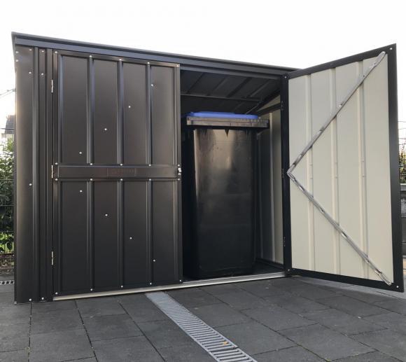 Globel Industries Metallgerätebox und Mülltonnenbox / 236x101 cm anthrazit