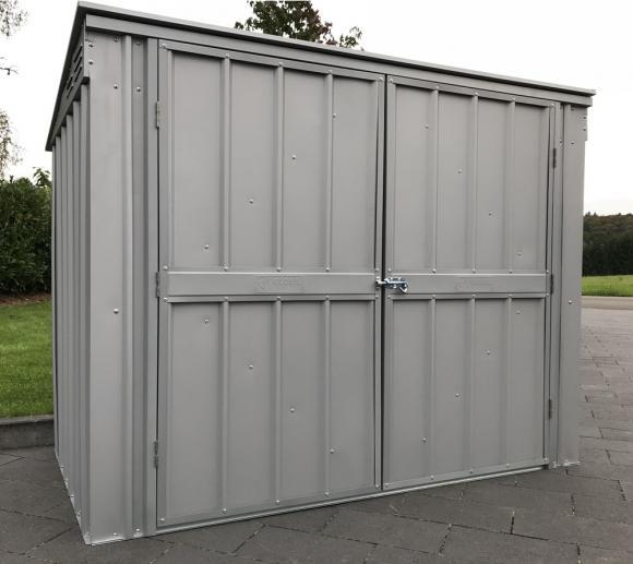 Globel Industries Metallgerätebox und Mülltonnenbox / 236x101 cm silber metallic