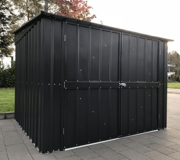 Globel Industries Gerätebox, Fahrradgarage & Fahrradbox anthrazit, 200x195 cm