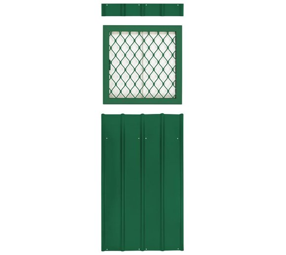 Globel Industries Fenstereinsatz mit Gitter Grün