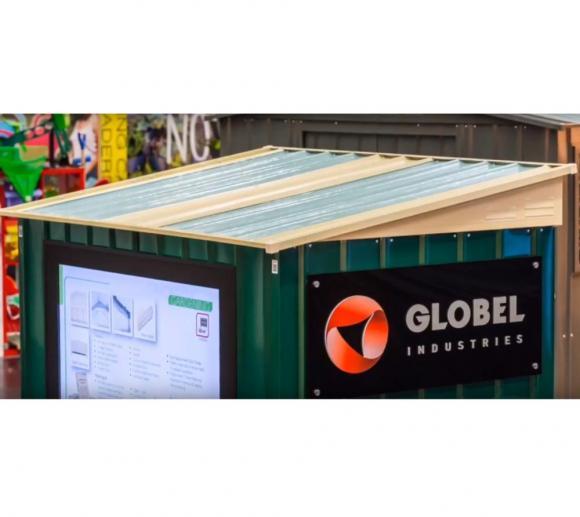 Globel Industries Sonneneinlass Metallgerätehäuser für 8 Häuser
