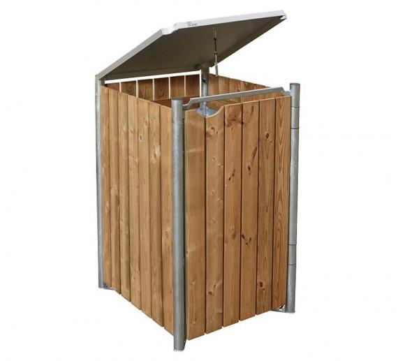Hide Mülltonnenbox inkl. Erdanker und Handschuhe Für 1 Mülltonne 140l Volumen