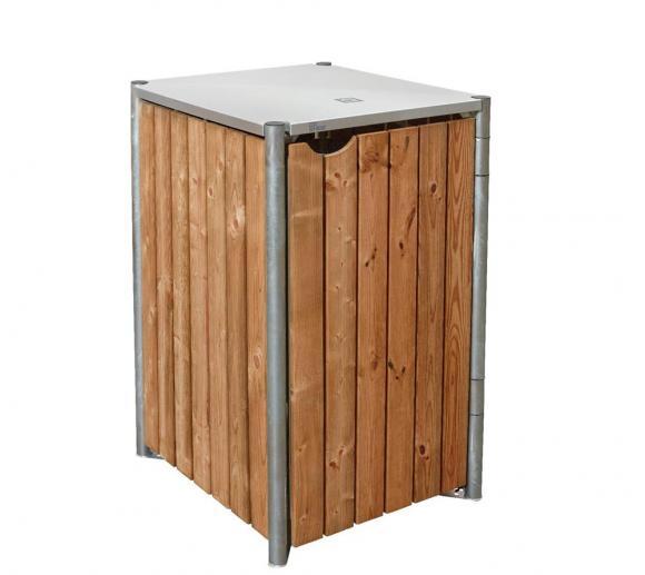 Hide Mülltonnenbox, Mülltonnenverkleidung natur braun; Für 2 Mülltonnen 240 l Volumen