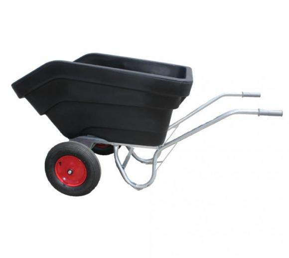 Roto Schubkarre XL schwarz, Transportkarre, Mulden-Kipper, 300l Volumen