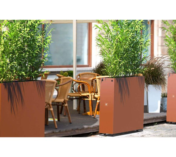 Herstera Garden Hochbeet Blumenkasten 100x23x80 cm rost verstellbarer Pflanzkasten