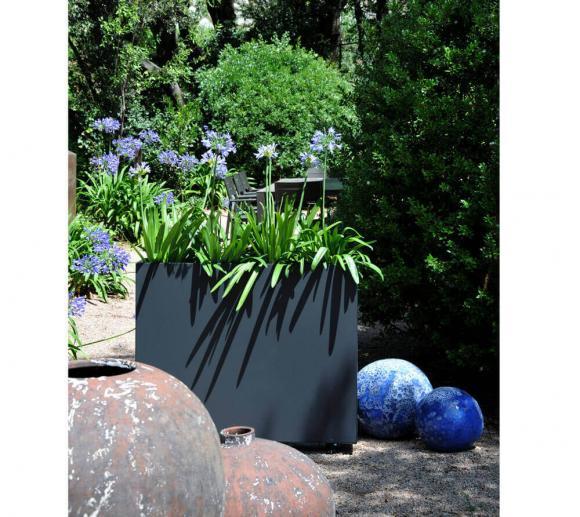 Herstera Garden Hochbeet Blumenkasten 100x23x80 cm anthrazit verstellbarer Pflanzkasten