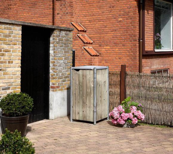 Hide Mülltonnenbox, Mülltonnenverkleidung natur grau; Für 1 Mülltonne 140l Volumen