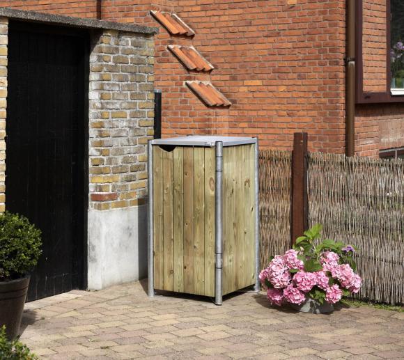 Hide Mülltonnenbox, Mülltonnenverkleidung natur; Für 1 Mülltonne 240l Volumen