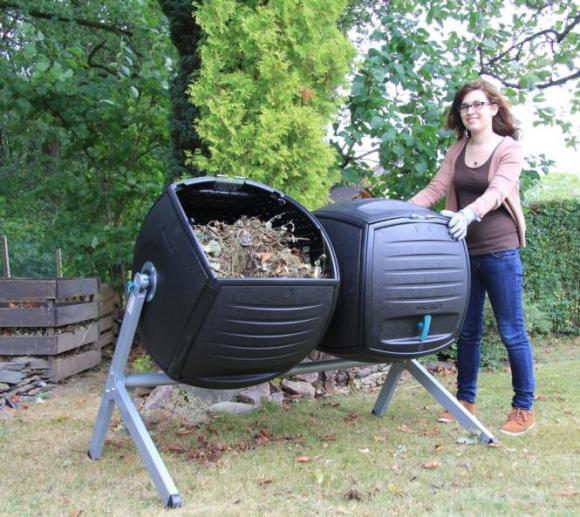 Lifetime Trommelkomposter Kompost-Zwilling, 380l Volumen