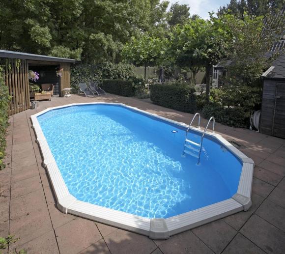 Interline Schwimmbad Pool u. Schwimmbecken Diana 730x360 cm Basic Set