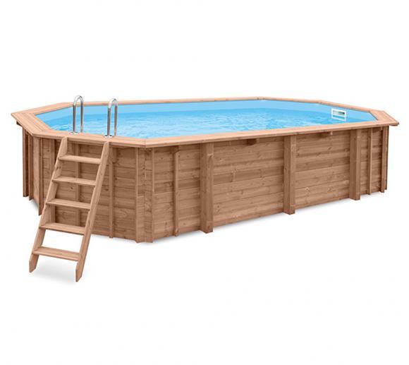 Interline Schwimmbad Holzpool u. Schwimmbecken Bali 840x490x136 cm