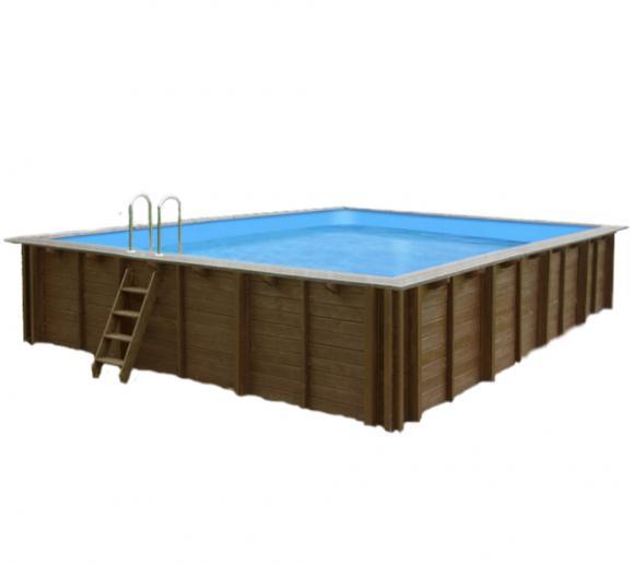 Interline Schwimmbad Holzpool u. Schwimmbecken Bali 790x400x138 cm