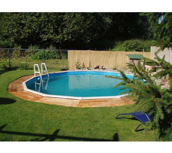 Interline Schwimmbad Diana Ø550 cm (8-tlg) inkl. Einstiegsleiter