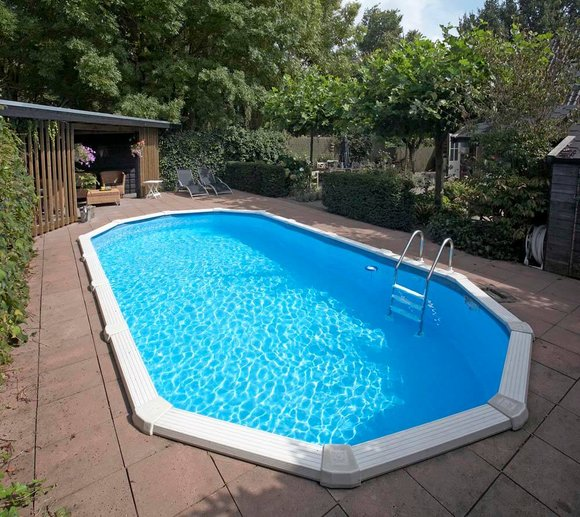 Interline Schwimmbad Diana 850x490 cm (8-tlg) inkl. Einstiegsleiter