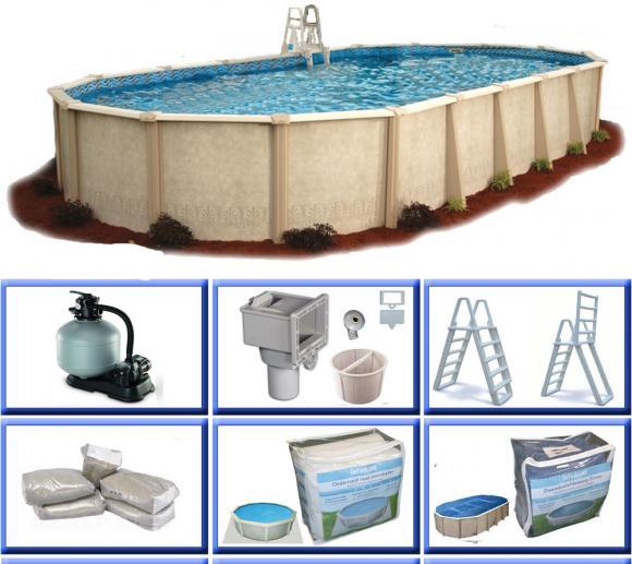 Interline Schwimmbad Pool u. Schwimmbecken Sunlake 975x490 cm Basic Set