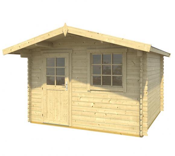 Lasita Maja Gartenhaus Cyprus 2B Holzhaus 3,5x3,5m 18 mm Natur