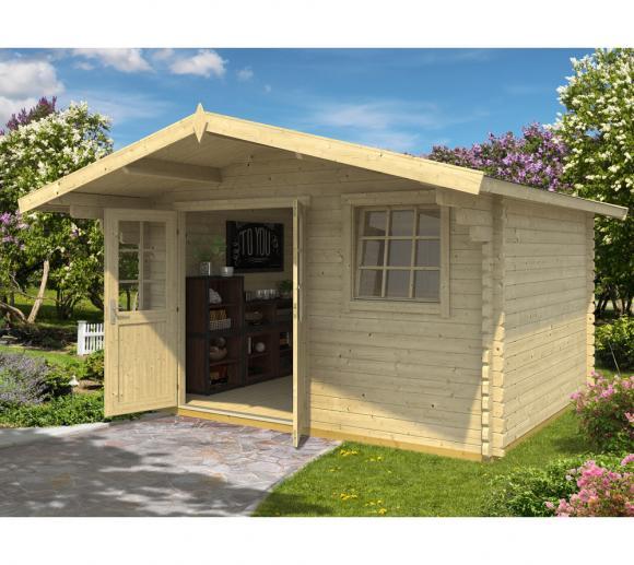 Lasita Maja Gartenhaus Gotland 1B Holzhaus 4x5 m 18 mm natur