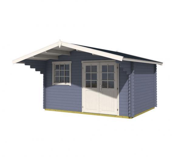 Lasita Maja Gartenhaus Gotland 3E Holzhaus 4x5m 40mm Blau