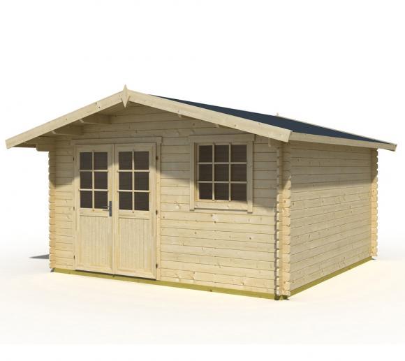 Lasita Maja Gartenhaus Cyprus 4E Holzhaus 4x3 m 28 mm natur