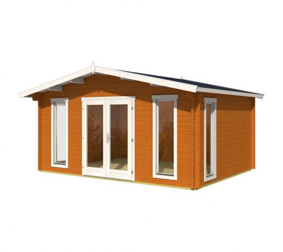 Lasita Maja Gartenhaus Elgin 44 Holzhaus 5x4m 44mm Eiche