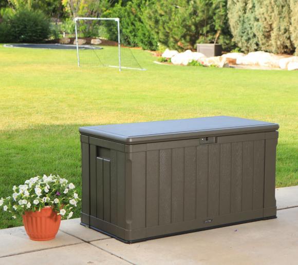 Lifetime Premium Kissenbox, Gartenbox und Auflagenbox 440l Braun