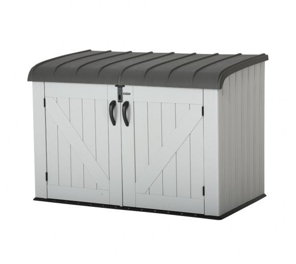 Lifetime XXL Kunststoff Mülltonnenbox, Gerätebox, Aufbewahrungsbox