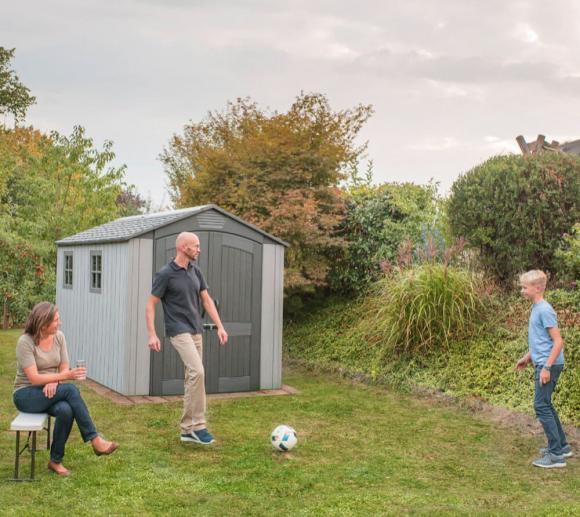 Lifetime Kunststoff Gerätehaus Luna Gartenhaus 204x285 cm