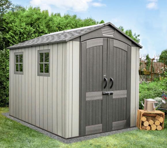 Lifetime Kunststoff Gerätehaus Luna Gartenhaus 213x280 cm