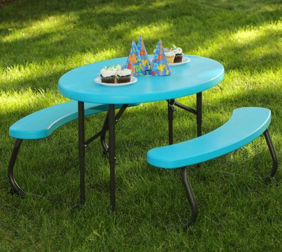 Lifetime Kunststoff Kinder Picknickgarnitur Sitzgarnitur blau