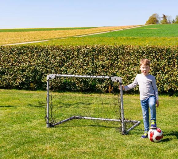 Lifetime Fußballtor 3-fach verstellbar und klappbar silber 213x152x122 cm
