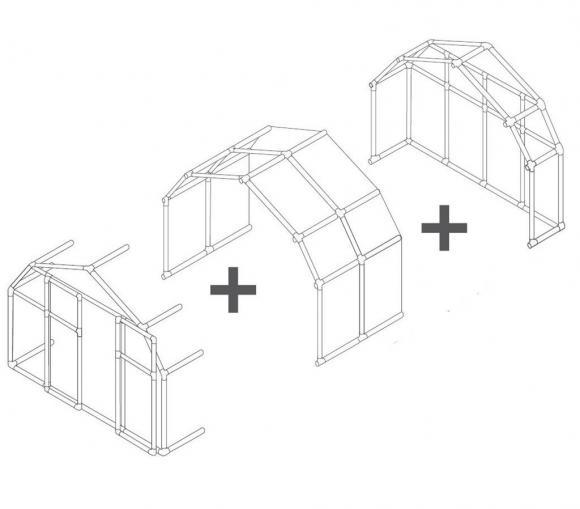 Rion Kunststoff Gewächshaus Erweiterung SMART, 124 cm