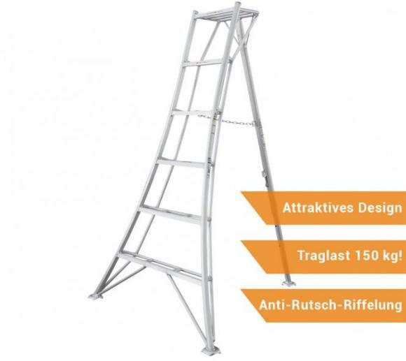 Niwaki 3-Holm-Gartenleiter 180cm, 150kg Traglast