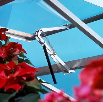 """automatischer Dachfensteröffner """"Poly"""" für ACD Gewächshäuser"""