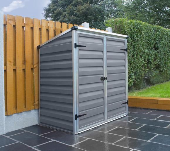Palram Gerätebox, Mülltonnenbox Voyager dunkelgrau, 139x90 cm