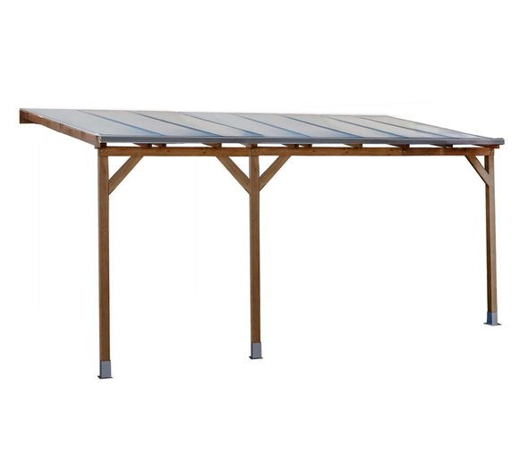 Palram Terrassendach Holz, Terrassenüberdachung Juniper 300x500 cm, natur