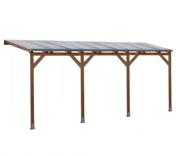 Palram Terrassendach Holz, Terrassenüberdachung Juniper 300x550 cm, natur