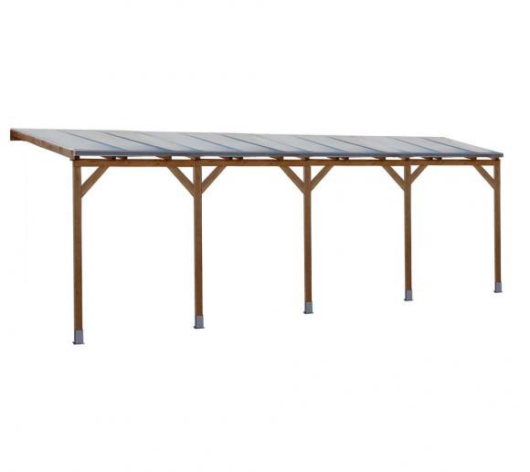 Palram Terrassendach Holz, Terrassenüberdachung Juniper 300x740 cm, natur