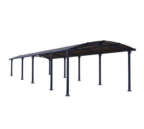 Palram Carport Arcadia 10600 anthrazit inkl. Regenrinne 1072x359 cm