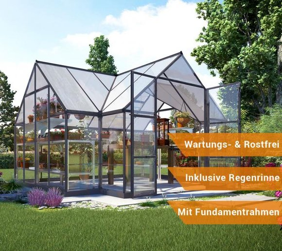 Palram Aluminium Gewächshaus Set Orangerie Victory 305x365 cm