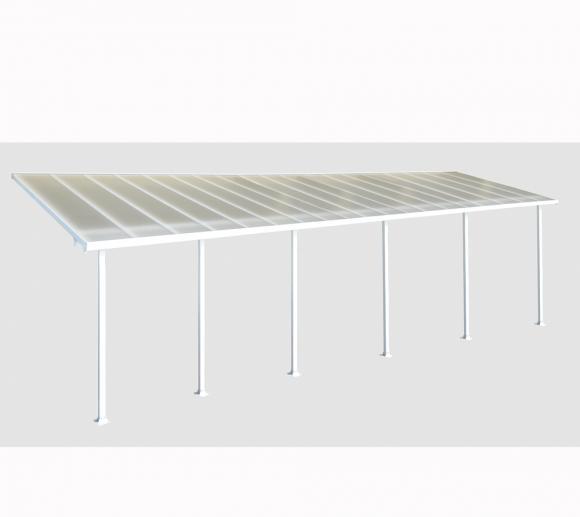 Palram Terrassendach, Terrassenüberdachung 300x1156 cm weiß inkl. Regenrinnen und Befestigungskit