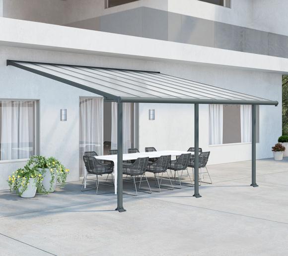 Palram Terrassenüberdachung Olympia 300x546 cm grau ;16mm Doppelstegplatten